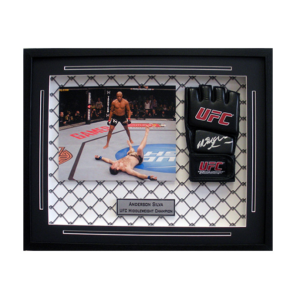 "Man Cave Store Placerville Ca : Anderson ""spider silva autographed mma glove framed"