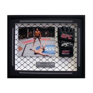 "c5f3e118781 Anderson ""Spider"" Silva Autographed MMA Glove – Framed"